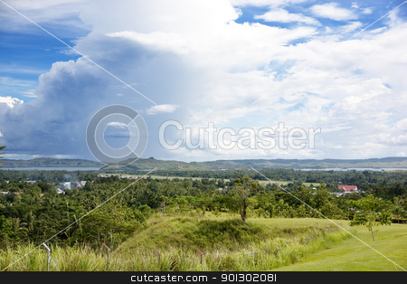 Indonesia Landscape stock photo, A green lush area of Papua, Indonesia by Tyler Olson