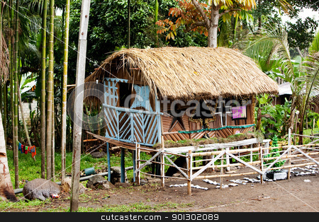 Indonesian Christmas Hut stock photo, A christmas hut in Indonesia by Tyler Olson