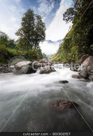 River Flow stock photo, A mystical river flowing by Tyler Olson