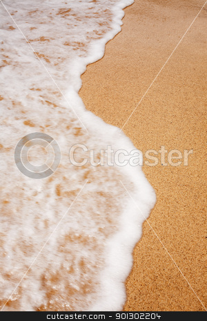 Beach Surf stock photo, A background of a beach surf by Tyler Olson