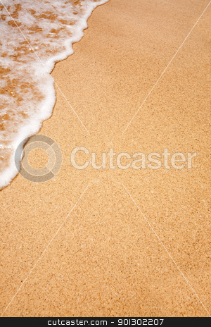 Beach Background stock photo, White foam on a beach - background texture by Tyler Olson