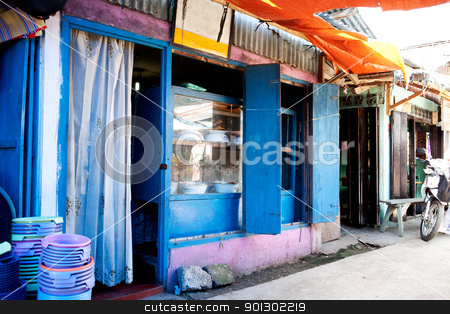 Restaurant in Indonesia stock photo, A typical restaurant in an Indonesian market by Tyler Olson