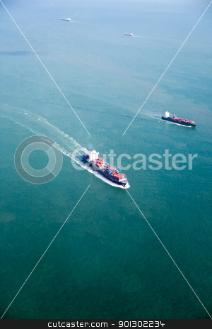 Ocean Tanker stock photo, An ocean tanker on the open sea by Tyler Olson