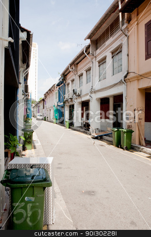 Chinatown Back Alley stock photo, A back alley in china town, singapore by Tyler Olson