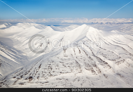 Mountain Range stock photo, A snow covered mountain range in Svalbard by Tyler Olson