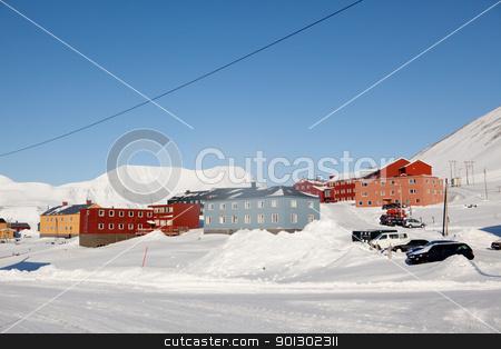 Longyearbyen stock photo, Longyearbyen, Norway, the worlds northern most city. by Tyler Olson