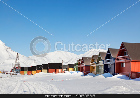 Longyearbyen stock photo, A city detail of Spitsbergen, Svalbard, Norway by Tyler Olson