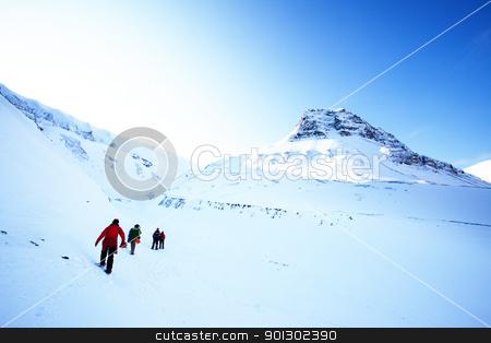 Mountain Landscape stock photo, A short trek across a winter landscape by Tyler Olson
