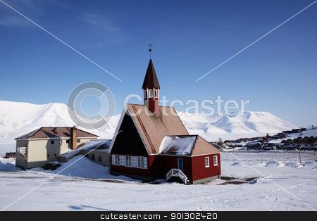 Longyearbyen Church stock photo, The Lutheran State Church in Longyearbyen, Norway by Tyler Olson