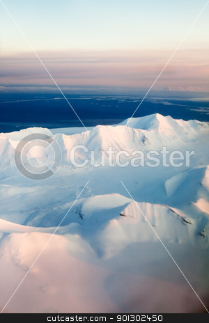 Snow Mountain stock photo, A mountain landscape filled with snow, Svalbard, Norway by Tyler Olson