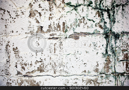 Old Wall Texture stock photo, An old wall texture, grunge white paint by Tyler Olson
