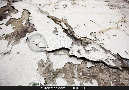 Cracked Wall Surface stock photo, A cracked plaster wall surface texture by Tyler Olson