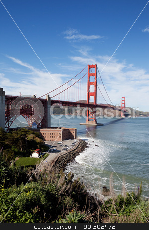 Golden Gate Bridge stock photo, Golden gate bridge on a sunny afternoon by Tyler Olson