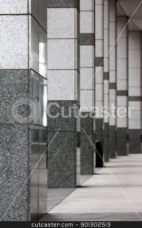 Stone Walkway stock photo, An architectural detail - a stone walk way in an office building by Tyler Olson