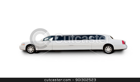Isolted Limousine stock photo, An isolated limousine on white by Tyler Olson