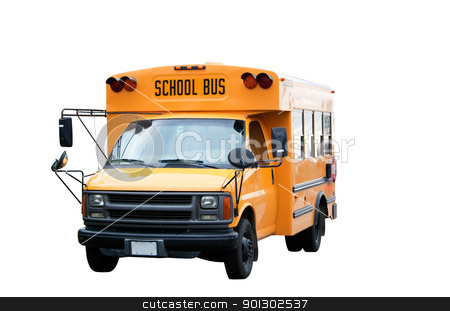 School Bus stock photo, A yellow isolated school bus on white by Tyler Olson