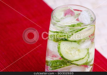 Cucumber Water stock photo, A tasty cucumber carbonated water beverage by Tyler Olson