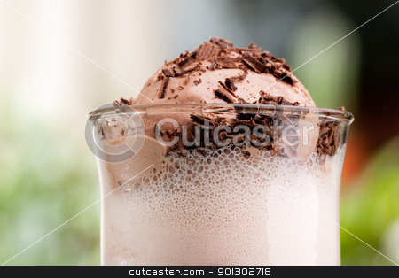 Chocolate Milk Float stock photo, A chocolate milk float in an outdoor natural setting by Tyler Olson