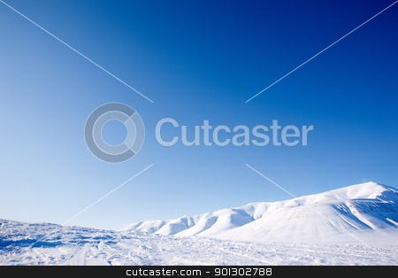 Winter Landscape stock photo, A winter landscape on Spitsbergen Island, Svalbard, Norway by Tyler Olson