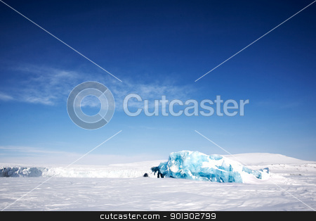 Glacier Ice stock photo, Frozen ocean and glacier ice on the coast of Spitsbergen Island, Svalbard, Norway by Tyler Olson