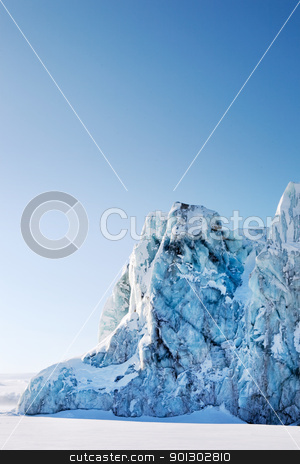 Glacier Detail stock photo, A glacier on the coast of Spitsbergen, Svalbard, Norway. by Tyler Olson