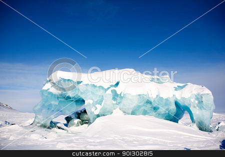 Glacier Landscape stock photo, A glacier detail on the island of Spitsbergen, Svalbard, Norway by Tyler Olson