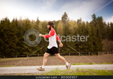 Speed Walk stock photo, A retro style speed walking in the country by Tyler Olson