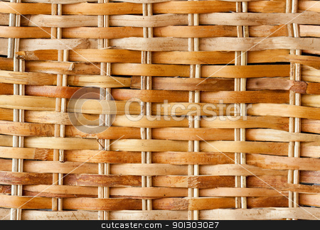 Seamless Wicker Background stock photo, A light colored seamless wicker backet background.  This background will repeat forever if tiled. by Tyler Olson