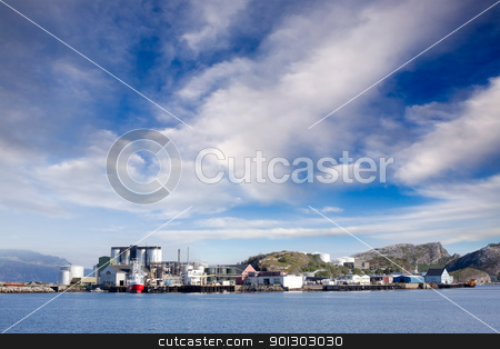 Shipping Industry stock photo, Coast shipping industry buildings in northern Norway by Tyler Olson