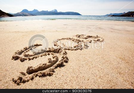 S.O.S. stock photo, An S.O.S. message in the sand on an island by Tyler Olson