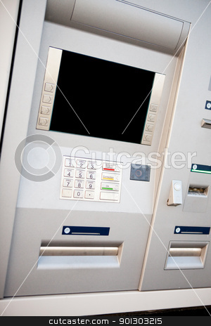 Bank Machine stock photo, An outdoor bank machine made of stainless steel by Tyler Olson