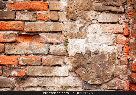 Brick Wall stock photo, A background texture of a brick wall by Tyler Olson