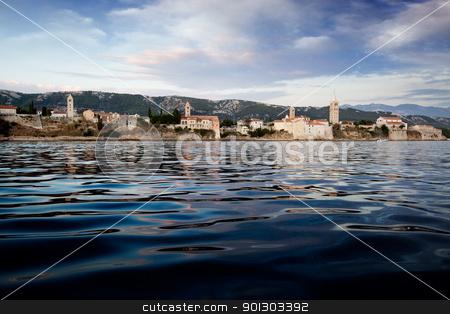 Rab Croatia Panorama stock photo, A panoramic view of the island of Rab, Croatia by Tyler Olson