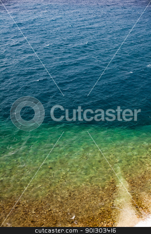 Ocean Background stock photo, An aerial view of a beach and ocean - background texture by Tyler Olson