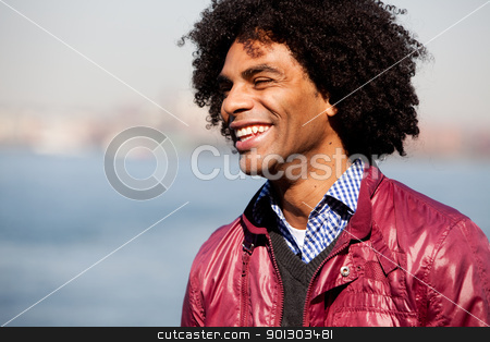 African American stock photo, A portrait of a happy laughing African American man by Tyler Olson