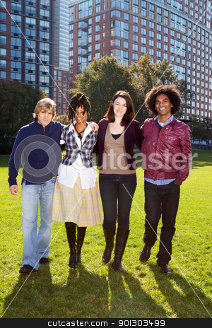 Student University stock photo, A group of university students infront of a large building by Tyler Olson