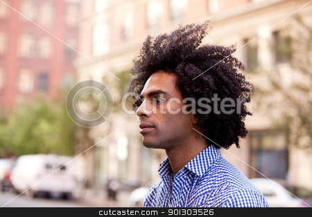Urban Male stock photo, A portrait of a male in an urban setting by Tyler Olson