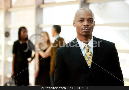 Serious Business Man stock photo, A serious African American business man by Tyler Olson
