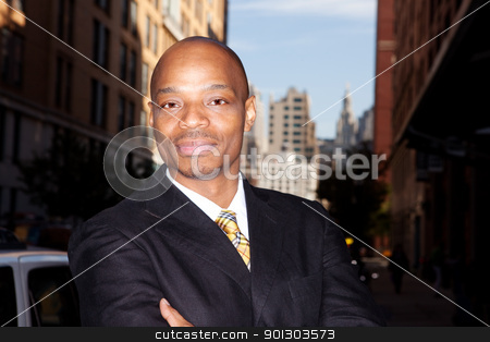 Business man stock photo, A business man isolated against a street background by Tyler Olson