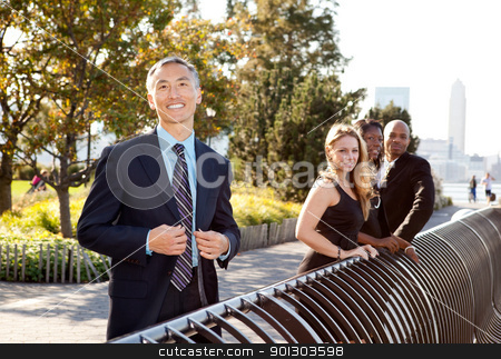 Asian Business Man stock photo, A portrait of a friendly Asian looking business man by Tyler Olson