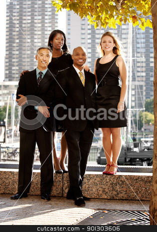Business Team stock photo, A business team portrait in an outdoor setting by Tyler Olson