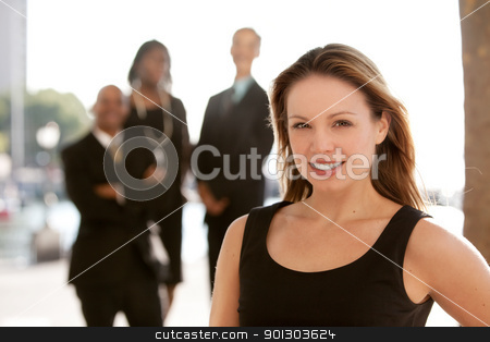Business Woman stock photo, An attractive caucasian business woman by Tyler Olson