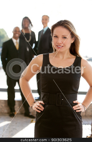 Pretty Blond Business Woman stock photo, An attractive caucasian business woman by Tyler Olson
