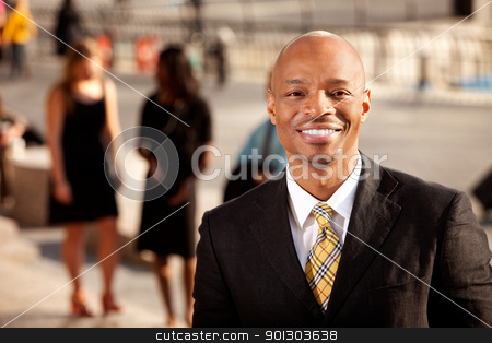 Business Man Smile stock photo, A happy business man with a nice smile by Tyler Olson