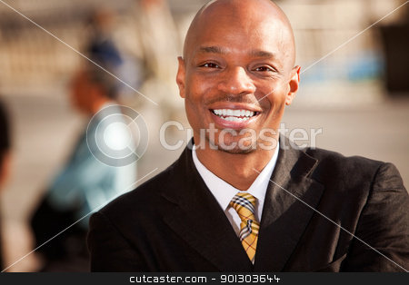African American Businessman stock photo, An portrait of an African American Business Man in an outdoor setting by Tyler Olson