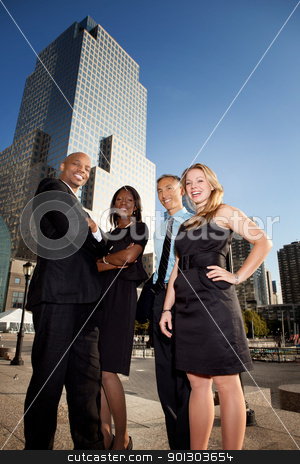 Successful Business stock photo, A group of successful business people downtown by Tyler Olson
