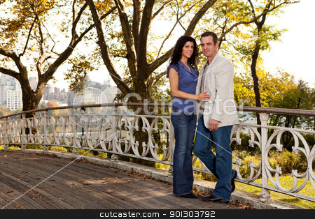 New York Couple stock photo, A happy couple relaxing in a park in New York by Tyler Olson