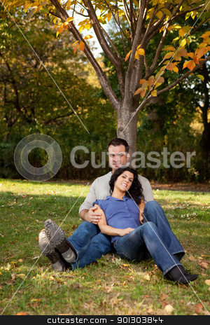 Relax Park stock photo, A couple relaxing in the park by a tree by Tyler Olson