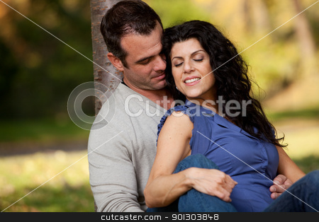 Marriage stock photo, A married couple in the park relaxing by Tyler Olson