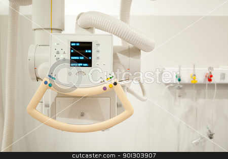 X-Ray Machine Detail stock photo, Detail of an x-ray machine in a hospital by Tyler Olson